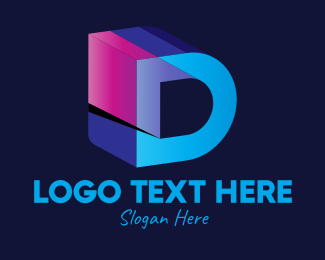 Pop - Retro Letter D logo design