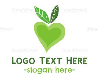 Eco-friendly - Green Love logo design