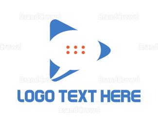 Video Player - Chat Media logo design