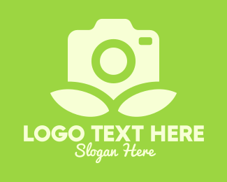 Camera Lens - Camera Leaves logo design