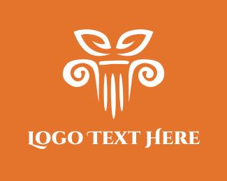 Temple - Column Decor logo design
