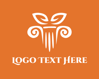 Greek - Column Decor logo design