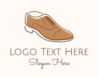 Shoe Salon - Brown Leather Shoe logo design