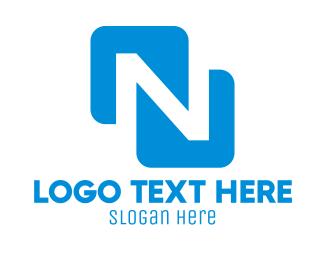 Letter N - Blue Letter N logo design