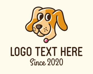 Pet Store - Smiling Pet Dog logo design