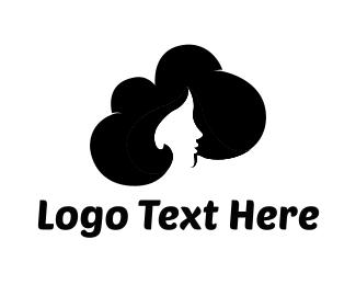 Hair Salon - Black Hair logo design