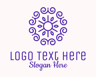 Lifestyle - Purple Feminine Pattern  logo design