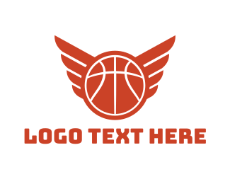 """Basketball Wings"" by LogoBrainstorm"