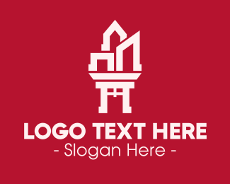 Feng Shui - Oriental Buildings logo design
