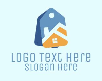 Mansion - House Label logo design