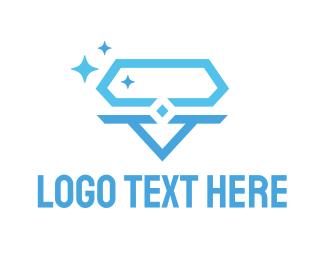 Blue Hexagon - Hexagon Diamond logo design