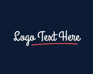 Casual - Curly  Script logo design