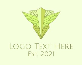 Camouflage - Natural Leaves Badge logo design
