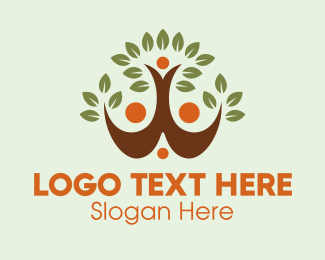 Human Resource - Eco Tree Team logo design