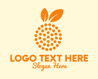 Fresh Fruit - Orange Fruit Dots logo design