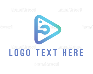 Photo - Light Blue Photo Play logo design