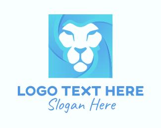 Lion King - Blue Lion logo design
