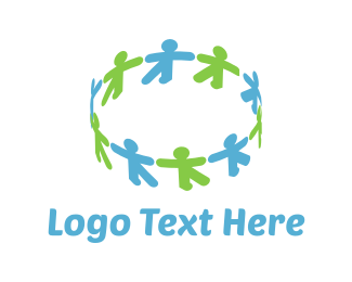 Volunteer - Human Circle logo design