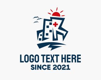 Windows - Hospital Building logo design