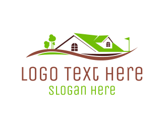 Construction - Green House logo design