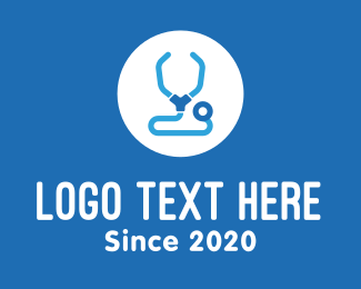 Worker - Blue Medical Stethoscope logo design