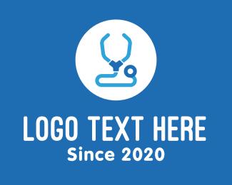 Medic - Blue Medical Stethoscope logo design