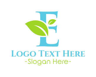 Environment - Eco Letter E logo design