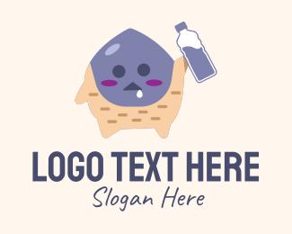 Stone Age - Cute Monster Mascot logo design