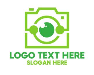 Green Instagram Camera logo design