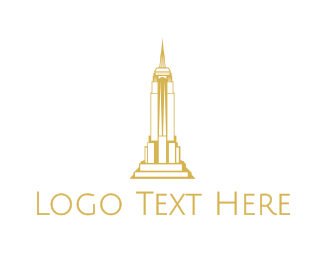 Ny - Gold Sharp Tower logo design