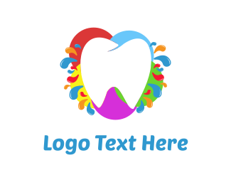 Playful - Colorful Tooth logo design