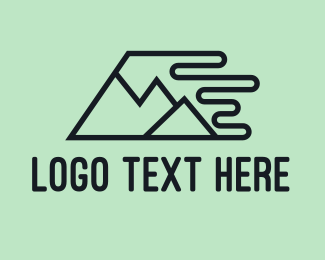 Speed - Fast Mountains logo design