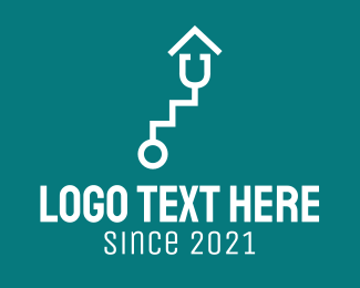Level - White Stethoscope Stairs  logo design