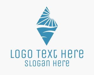 Blue Landscape Diamond Logo