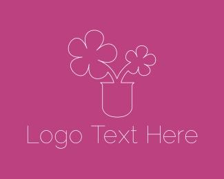 Vase - Cute Flowers logo design