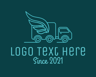 Logistics Company - Blue Delivery Van logo design