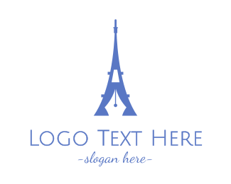French - French Blogger logo design
