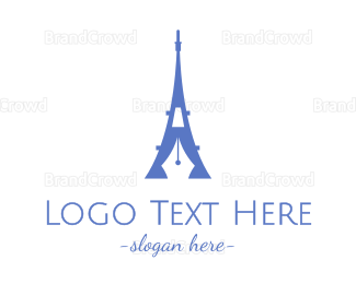 Travel Agent - French Blogger logo design