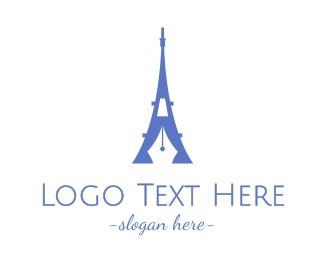French - French Blogger logo design