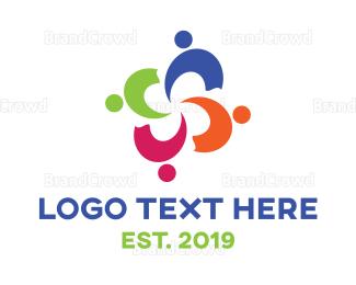 Care - Colorful People Care logo design