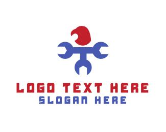 Tradesman - Mechanical Eagle logo design