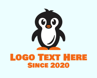 South Pole - Cute Baby Penguin logo design