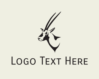 Gazelle - Gazelle Head logo design