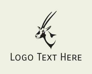 Savanna - Gazelle Head logo design
