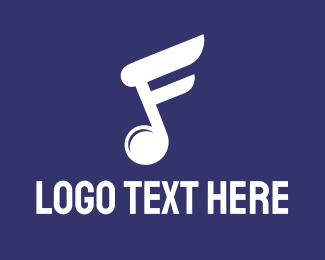 Orchestra - White Music Note logo design