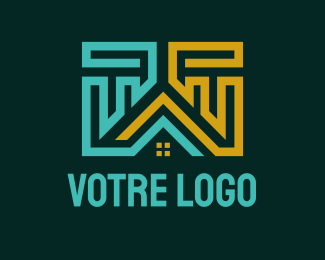 Construction Apartment House Construction logo design
