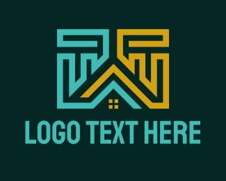 Architect - Apartment House Construction logo design