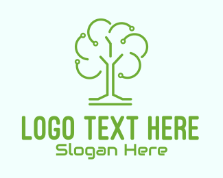 Biotechnology - Green Tech Tree logo design