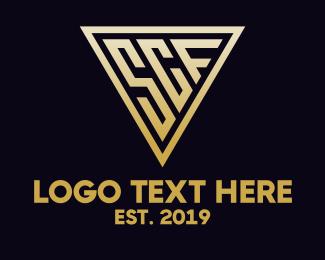 Machining - Gold Triangle SCF logo design