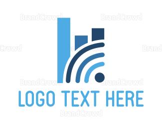 Vpn - Wifi Analytics logo design